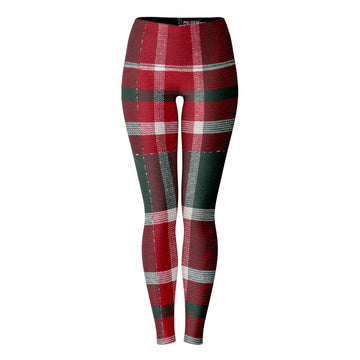 Red Green Plaid Leggings