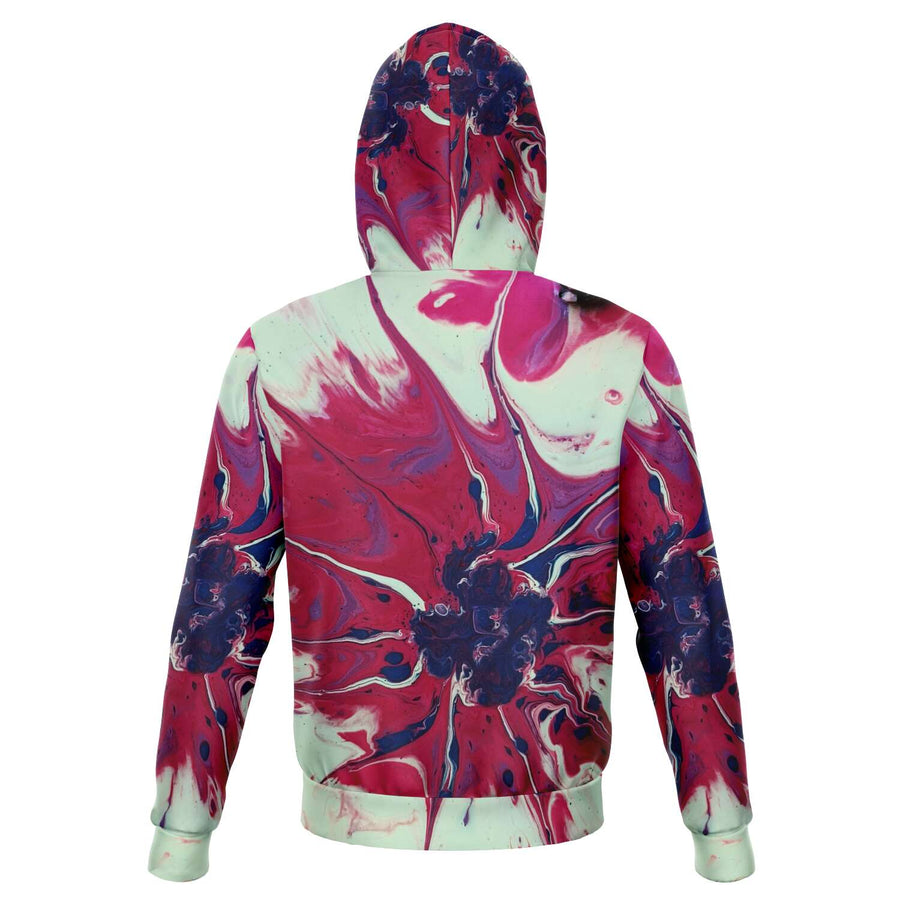 Red White Navy Paint Splatter Hoodie