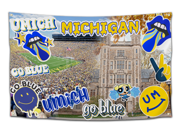 University of Michigan Sticker Flag - CollegeWares