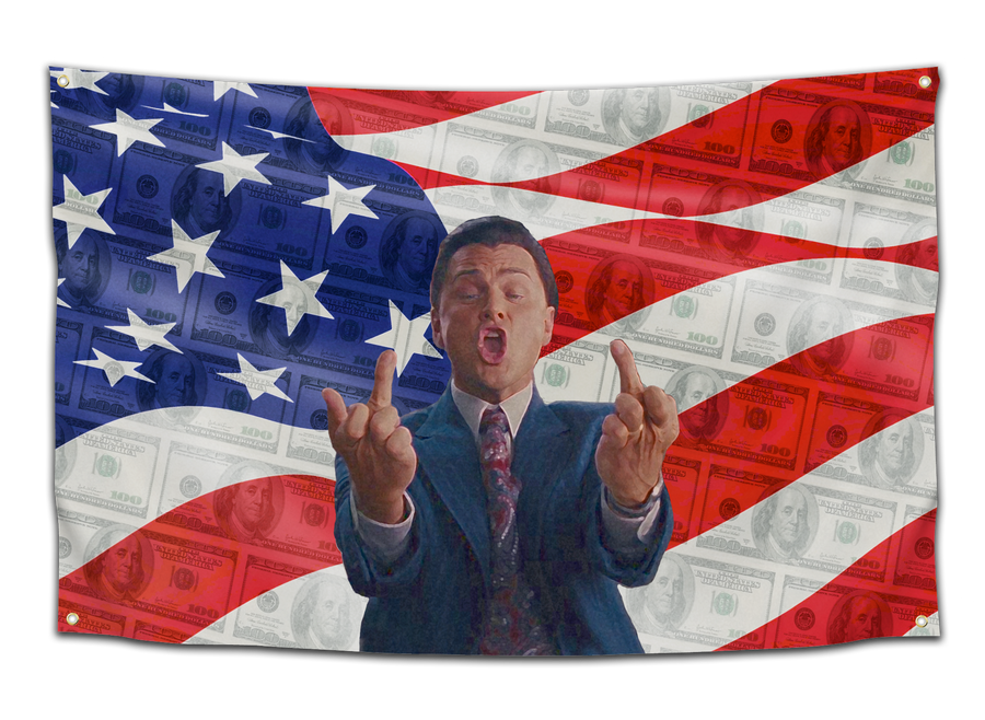 Wolf of Wall Street Finger Flag - CollegeWares