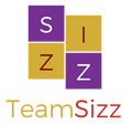 First iteration of the Team Sizz logo