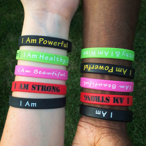 I Am - Positive Affirmations Wristband - Bundle - Shop TeamSizz