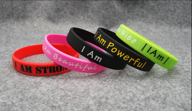 I Am - Positive Affirmations Wristband - Individual - Shop TeamSizz