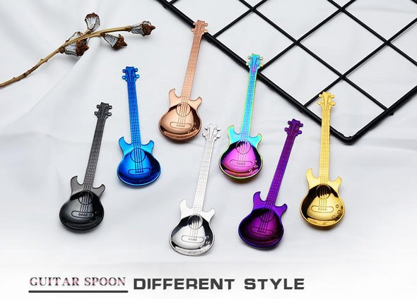Guitar Coffee Spoon Stainless Steel - 7 Colors - Shop TeamSizz