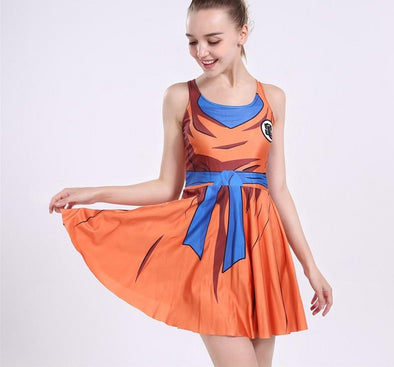 DBZ Anime Flowy Dress - Shop TeamSizz