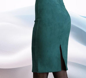 Suede Pencil Skirt - Shop TeamSizz