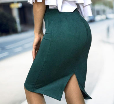 Pencil Skirt with Slit - 8 Colors - Shop TeamSizz