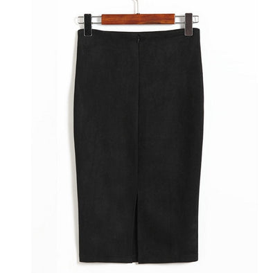 Pencil Skirt with Slit - 11 Colors - Shop TeamSizz