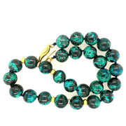ELLEN HOFFMAN DESIGNS 20K GOLD CHRYSOCOLLA, PAVE DIAMOND NECKLACE
