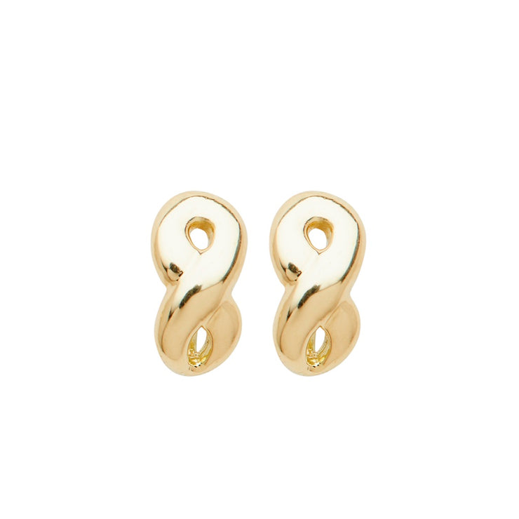 ELLEN HOFFMAN DESIGNS 18K GOLD INFINITY POST EARRINGS