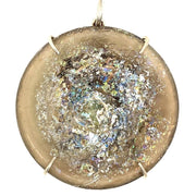ELLEN HOFFMAN DESIGNS ANCIENT ROMAN GLASS PENDANT ON AQUAMARINE AND BERYL NECKLACE