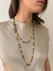 ELLEN HOFFMAN DESIGNS 18-KARAT GOLD ROPE OF AUSTRALIAN AND ETHIOPIAN OPAL NECKLACE