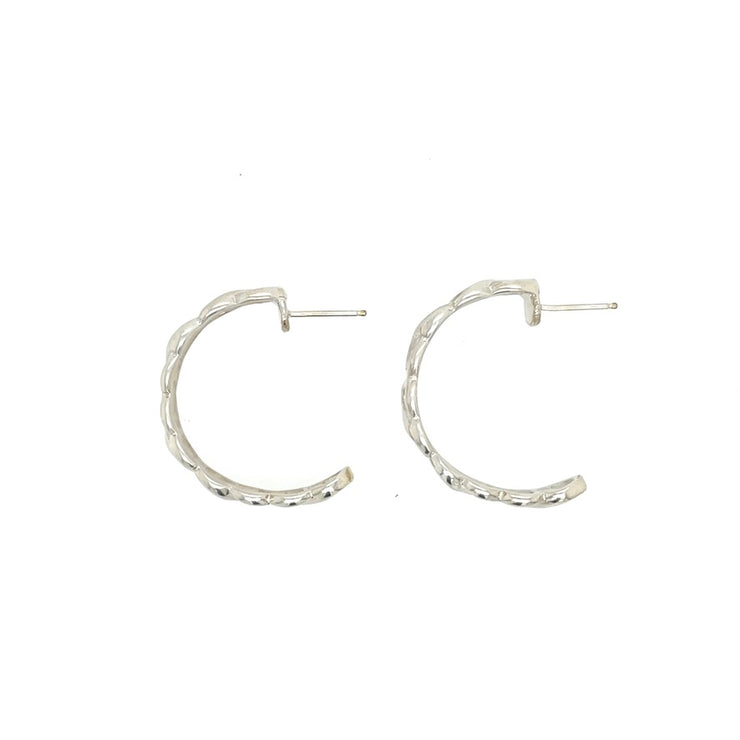 Sterling Silver Small Infinity Hoop Post Earrings