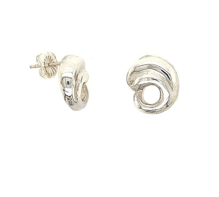 ELLEN HOFFMAN DESIGNS STERLING SILVER PAISLEY POST EARRINGS