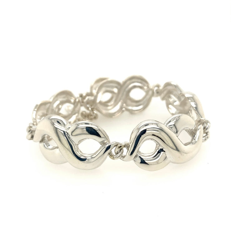ELLEN HOFFMAN DESIGNS STERLING SILVER EXTRA-LARGE CONTINUOUS INFINITY LINK BRACELET