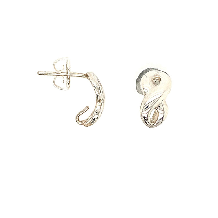 ELLEN HOFFMAN DESIGNS STERLING SILVER INFINITY POST EARRINGS