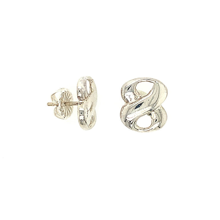 ELLEN HOFFMAN DESIGNS STERLING SILVER WIDE INFINITY EARRINGS