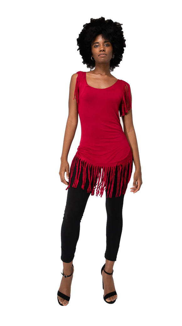 LIFE ON THE FRINGE Top-Red