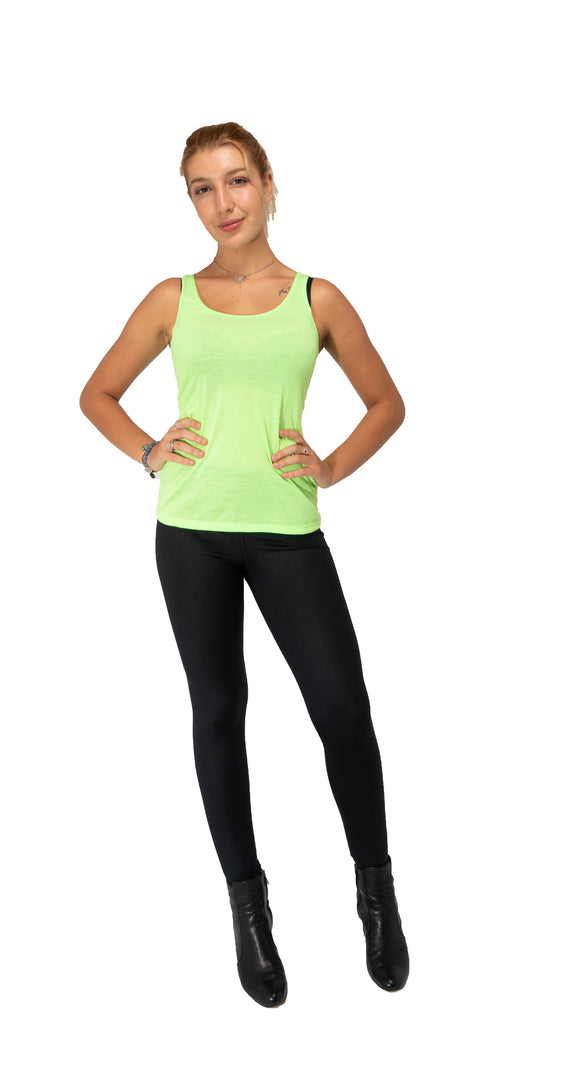 RIGHT BACK AT YOU Tank Top-Neon Yellow