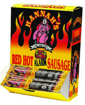 Hannah's Red Hot Pickled Sausage 5 Alarm Dispenser Box