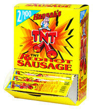 Hannah's TNT Red Hot Pickled Sausage 2 for $1