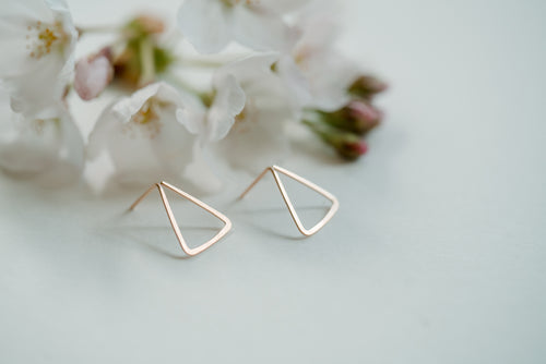 Triangle Blossom Earrings