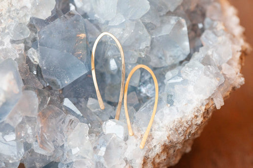 Minimal J Hoop Earrings