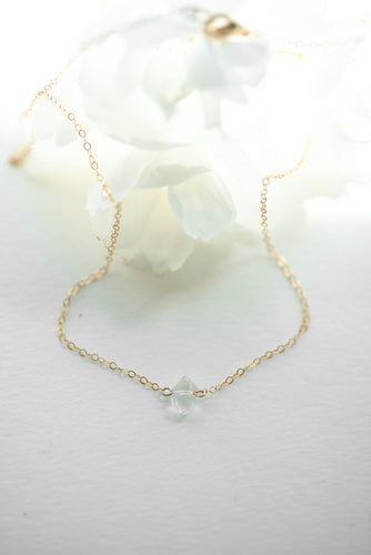 Herkimer Diamond Stacking Necklace