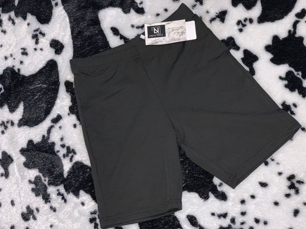 Biker Shorts- Blackie