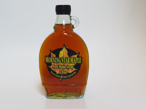 Pure New Hampshire Maple Syrup - 12 OZ. Glass Bottle