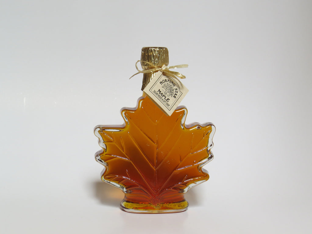 Pure New Hampshire Maple Syrup - 3.4 OZ. Glass Leaf