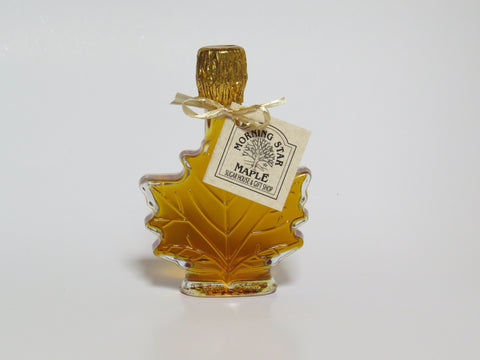 Pure New Hampshire Maple Syrup - 1.7 OZ. Glass Leaf
