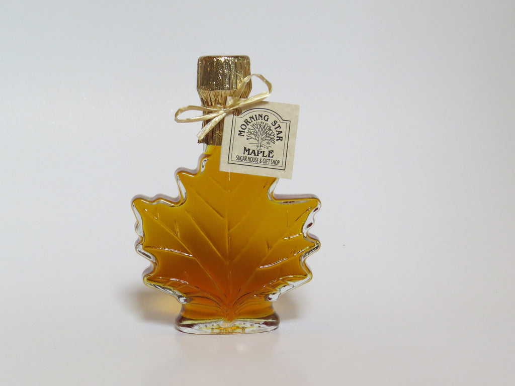 Pure New Hampshire Maple Syrup - 8.45 OZ. Glass Leaf