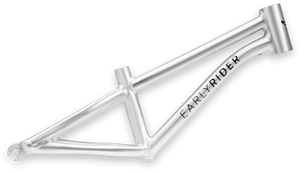 classic aluminum diamond frame with forged dropouts. lightweight, super strong and rust resistant