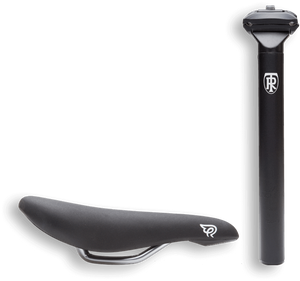 ritchey aluminum seat post and railed early rider anatomically correct saddle for comfort and adjustability