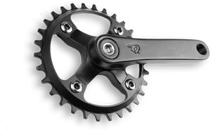 cnc'd hardened 7075 aluminum narrow-wide chainring, cold forged anatomically correct 120mm cranks