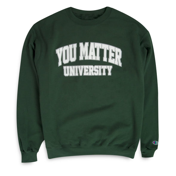 You Matter University Crewneck - Green/White