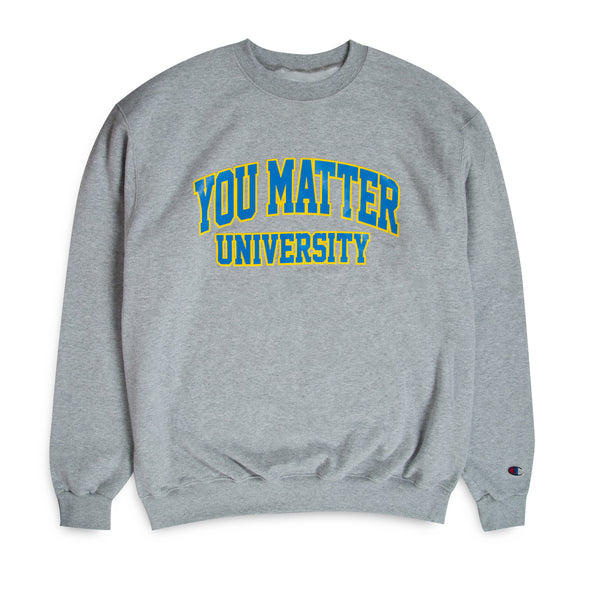 You Matter University Crewneck - Grey/Sky Blue-Yellow