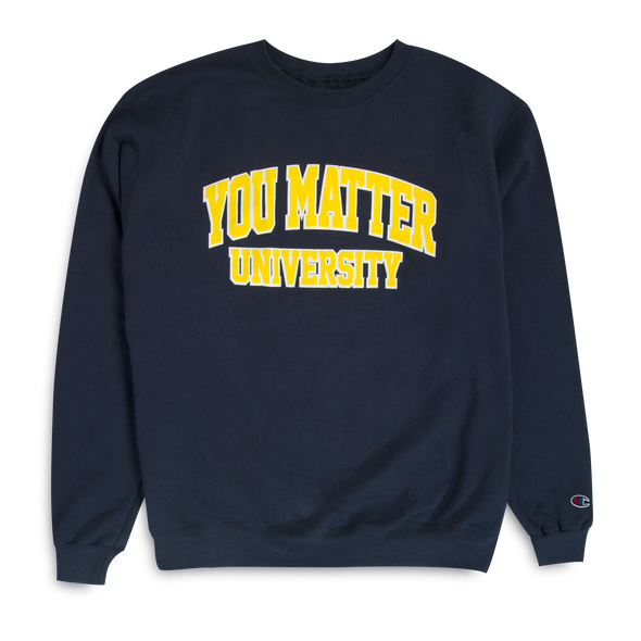 You Matter University Crewneck - Navy/Yellow