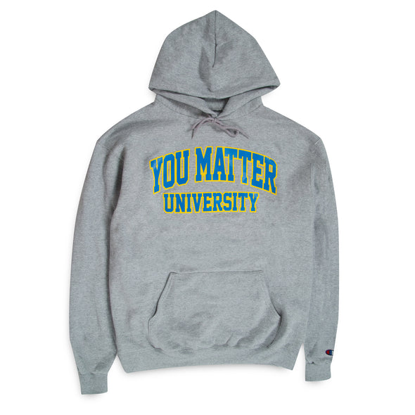 You Matter University Hoodie - Sky Blue/Yellow
