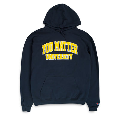 You Matter University Hoodie - Navy/Yellow
