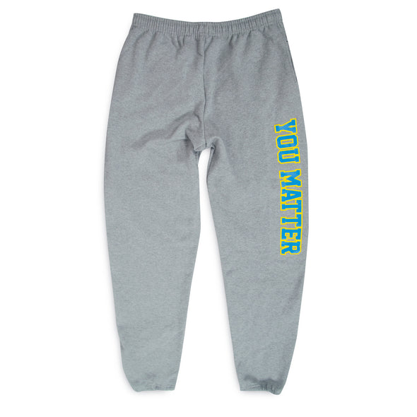 You Matter University Sweatpants - Sky Blue/Yellow