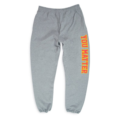 You Matter University Sweatpants - Red/Yellow