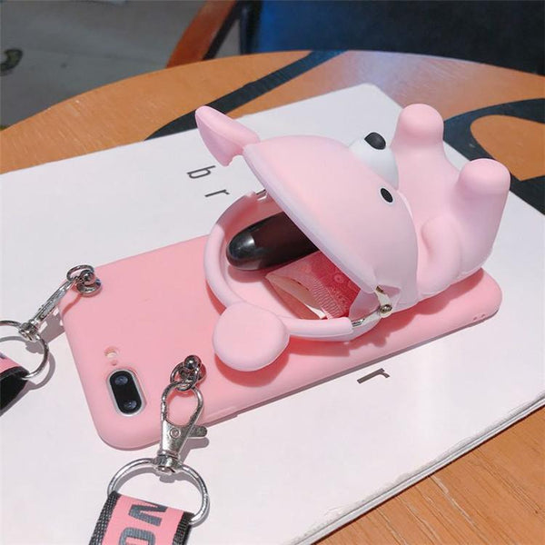 【Hot Sale Today! Up to 50% Discount!】Cartoon Storage Phone Bag For iPhone/Samsung