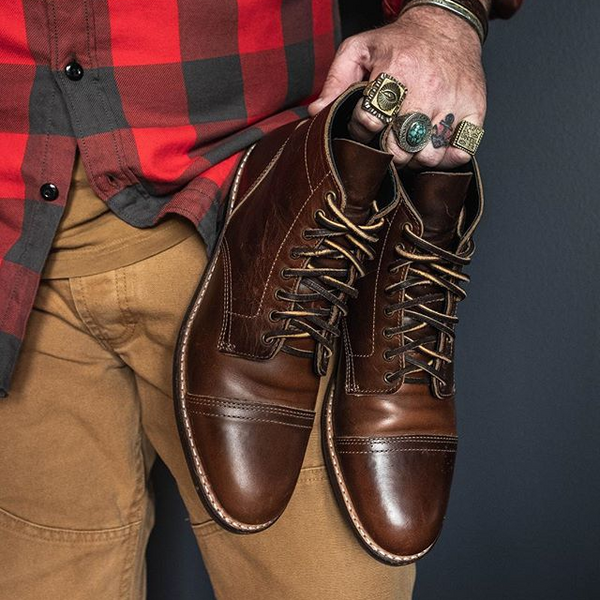 High-Quality Leather Lace Up Handcrafted Boots