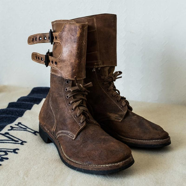Original Design Retro Handmade Genuine Leather Boots