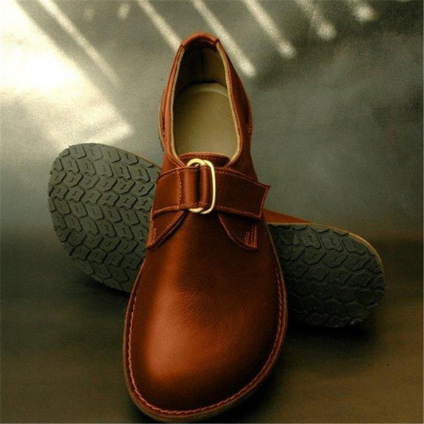 Fashion Buckle Flat Casual Shoes