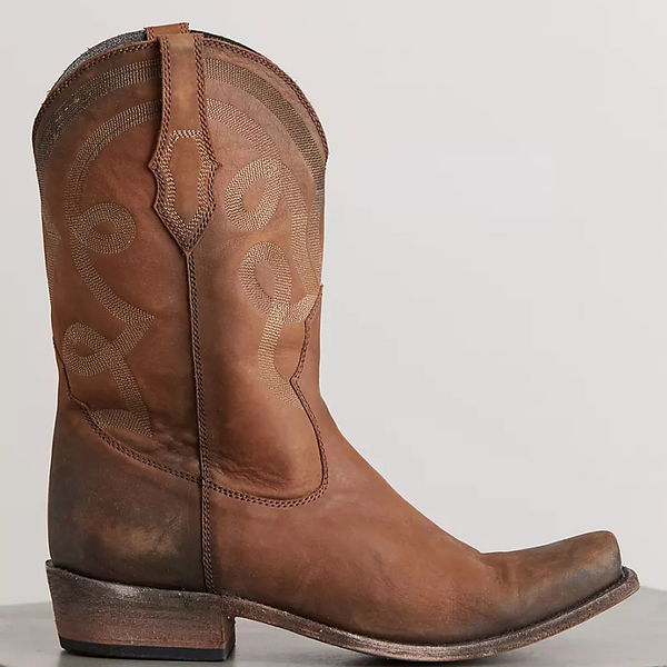 Men's  Distressed Leather Cowboy Boots