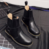 Women's Large Size Genuine Leather Soft Sole Leather Buckle Boots