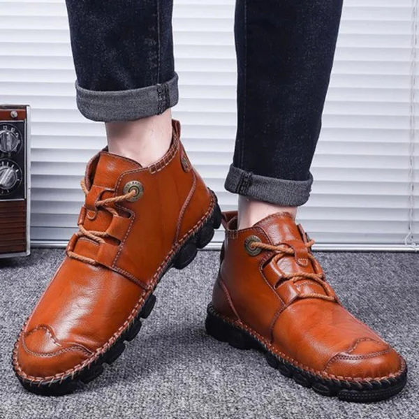 Men's Soft Sole Non-slip Casual Leather Shoes